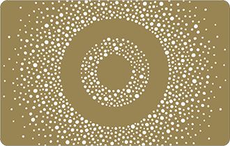 Small white spots on gold background, in the shape of a circle, can only be used in Target stores