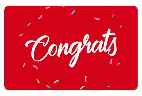 e-Gift Card – Congrats