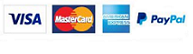 Cards Accepted: Visa, Mastercard, AMEX,Paypal